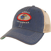 League-Legacy Men's Kansas Jayhawks Blue Old Favorite Adjustable Trucker Hat