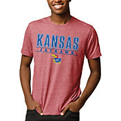 League-Legacy Men's Kansas Jayhawks Crimson Reclaim Tri-Blend T-Shirt