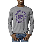 League-Legacy Men's Kansas State Wildcats Grey Reclaim Tri-Blend Long Sleeve T-Shirt