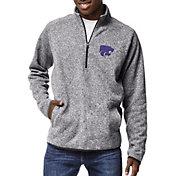 League-Legacy Men's Kansas State Wildcats Grey Saranac Quarter-Zip Shirt