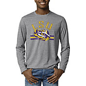 League-Legacy Men's LSU Tigers Grey Reclaim Tri-Blend Long Sleeve T-Shirt