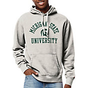 League-Legacy Men's Michigan State Spartans Oatmeal Stadium Hoodie