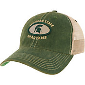 League-Legacy Men's Michigan State Spartans Green Old Favorite Adjustable Trucker Hat