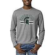 League-Legacy Men's Michigan State Spartans Grey Reclaim Tri-Blend Long Sleeve T-Shirt