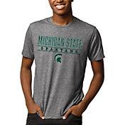 League-Legacy Men's Michigan State Spartans Grey Reclaim Tri-Blend T-Shirt