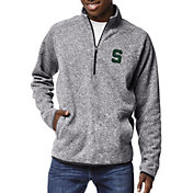 League-Legacy Men's Michigan State Spartans Grey Saranac Quarter-Zip Shirt