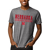 League-Legacy Men's Nebraska Cornhuskers Grey Reclaim Tri-Blend T-Shirt