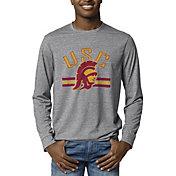 League-Legacy Men's USC Trojans Grey Reclaim Tri-Blend Long Sleeve T-Shirt