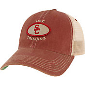 League-Legacy Men's USC Trojans Cardinal Old Favorite Adjustable Trucker Hat