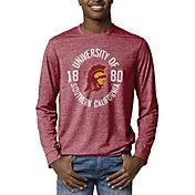 League-Legacy Men's USC Trojans Cardinal Reclaim Tri-Blend Long Sleeve T-Shirt