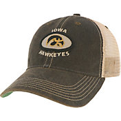 League-Legacy Men's Iowa Hawkeyes Old Favorite Adjustable Trucker Black Hat