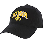 League-Legacy Men's Iowa Hawkeyes Relaxed Twill Adjustable Black Hat