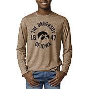 League-Legacy Men's Iowa Hawkeyes Brown Reclaim Tri-Blend Long Sleeve T-Shirt