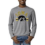 League-Legacy Men's Iowa Hawkeyes Grey Reclaim Tri-Blend Long Sleeve T-Shirt