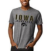 League-Legacy Men's Iowa Hawkeyes Grey Reclaim Tri-Blend T-Shirt