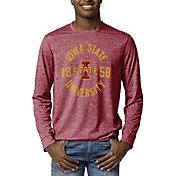 League-Legacy Men's Iowa State Cyclones Cardinal Reclaim Tri-Blend Long Sleeve T-Shirt