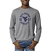 League-Legacy Men's West Virginia Mountaineers Grey Reclaim Tri-Blend Long Sleeve T-Shirt