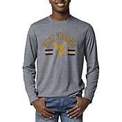 League-Legacy Men's West Virginia Mountaineers Blue Reclaim Tri-Blend Long Sleeve T-Shirt