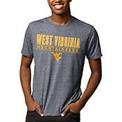 League-Legacy Men's West Virginia Mountaineers Blue Reclaim Tri-Blend T-Shirt