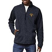 League-Legacy Men's West Virginia Mountaineers Blue Saranac Quarter-Zip Shirt
