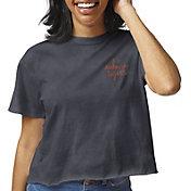 League-Legacy Women's Auburn Tigers Blue Clothesline Cotton Cropped T-Shirt