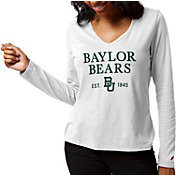 League-Legacy Women's Baylor Bears ReSpin Long Sleeve White T-Shirt