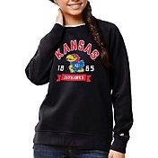 League-Legacy Women's Kansas Jayhawks Blue Academy Crew Sweatshirt