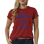 League-Legacy Women's Kansas Jayhawks Crimson ReSpin T-Shirt