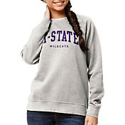 League-Legacy Women's Kansas State Wildcats Oatmeal Academy Crew Sweatshirt