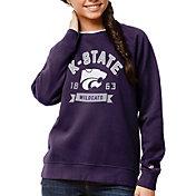 League-Legacy Women's Kansas State Wildcats Purple Academy Crew Sweatshirt