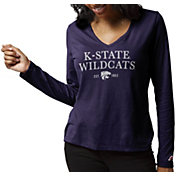 League-Legacy Women's Kansas State Wildcats Purple ReSpin Long Sleeve T-Shirt