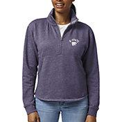 League-Legacy Women's Kansas State Wildcats Purple Victory Springs Quarter-Zip Shirt