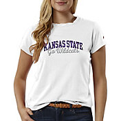 League-Legacy Women's Kansas State Wildcats ReSpin White T-Shirt