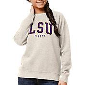League-Legacy Women's LSU Tigers Oatmeal Academy Crew Sweatshirt