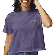 League-Legacy Women's LSU Tigers Purple Clothesline Cotton Cropped T-Shirt