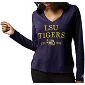 League-Legacy Women's LSU Tigers Purple ReSpin Long Sleeve T-Shirt