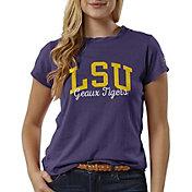 League-Legacy Women's LSU Tigers Purple ReSpin T-Shirt