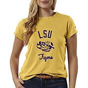 League-Legacy Women's LSU Tigers Gold ReSpin T-Shirt