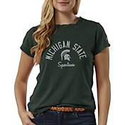 League-Legacy Women's Michigan State Spartans Green ReSpin T-Shirt