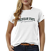 League-Legacy Women's Michigan State Spartans ReSpin White T-Shirt