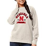 League-Legacy Women's Nebraska Cornhuskers Oatmeal Academy Crew Sweatshirt