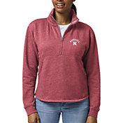 League-Legacy Women's Nebraska Cornhuskers Scarlet Victory Springs Quarter-Zip Shirt