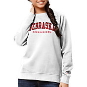 League-Legacy Women's Nebraska Cornhuskers Academy Crew White Sweatshirt