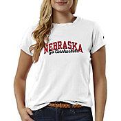 League-Legacy Women's Nebraska Cornhuskers ReSpin White T-Shirt