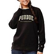 League-Legacy Women's Purdue Boilermakers Academy Crew Black Sweatshirt