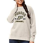 League-Legacy Women's Purdue Boilermakers Oatmeal Academy Crew Sweatshirt