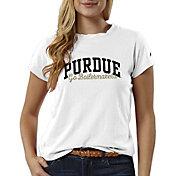 League-Legacy Women's Purdue Boilermakers ReSpin White T-Shirt