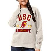 League-Legacy Women's USC Trojans Oatmeal Academy Crew Sweatshirt