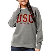 League-Legacy Women's USC Trojans Grey Academy Crew Sweatshirt