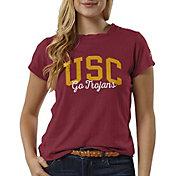 League-Legacy Women's USC Trojans Cardinal ReSpin T-Shirt